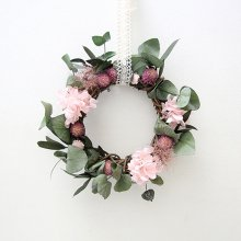 천일홍과 핑크수국 - 리스