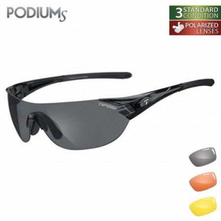 티포시 포디엄S 글로스 블랙(스모크 폴라라이즈(편광렌즈)+AC 레드+옐로우(렌즈3개)) 1010700211