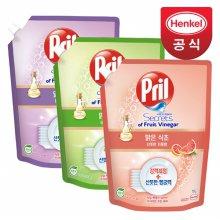 프릴 맑은 식초 주방세제 1L 3개 (자몽)