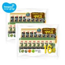 양반김 복합 식탁김 10매 x 32봉 (들기름김 16봉 + 올리브 16봉)