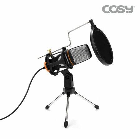1인 미디어 방송 콘덴서 마이크 삼각대 세트 [MK3398]