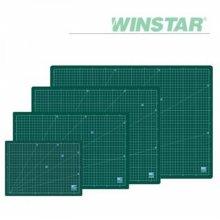 윈스타 녹색  300X215  A4 데스크 고무 매트