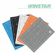 윈스타 PVC 칼라 305X100데스크 커팅매트 (소) _화이트그레이