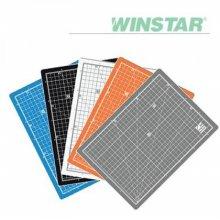윈스타 PVC 칼라 620X450 A2  데스크 커팅매트 _화이트그레이