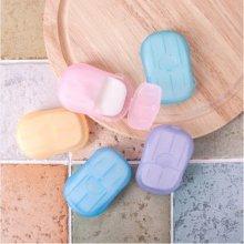 실속형 휴대용 종이비누 20매 1개(색상랜덤)