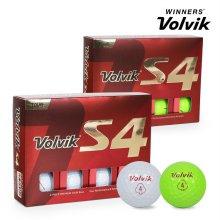 2019 볼빅 투어 S4 골프공 12알 화이트볼 그린볼 골프용품 필드용품 VOLVIK S4 GOLF BALL