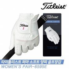 [여성양손장갑]타이틀리스트 19 NEW 퍼마 소프트 양피 골프장갑 [6595E/화이트][여성용/양손]