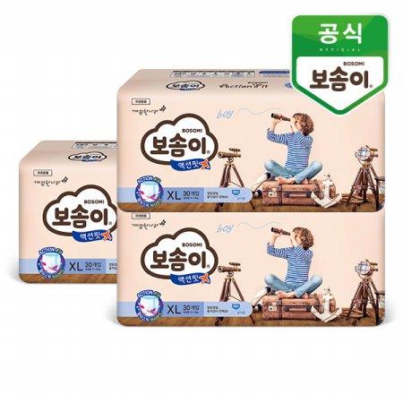 액션핏 팬티 특대 남아 30매 3팩