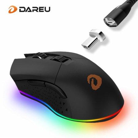 다얼유 EM901 RGB 게이밍 무선마우스+마그네틱 1.8M케이블 세트
