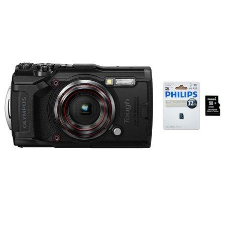 TG-6 컴팩트 아웃도어 카메라 [블랙] [SD카드 32GB 증정]