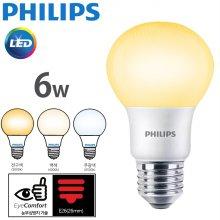 필립스 LED 6W 전구/주백/주광  E26 해바라기 패턴 2019_NEW