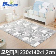 파크론 모던피치 실키 놀이방매트 230x140x1.2cm_2AD012