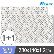1+1 웨이브그레이 웰빙 놀이방매트 230x140x1.2cm_3F5B00