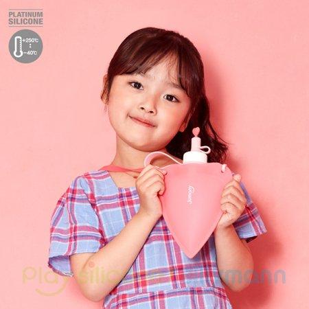 실리콘 하트 물주머니 250ml WSK424 핑크