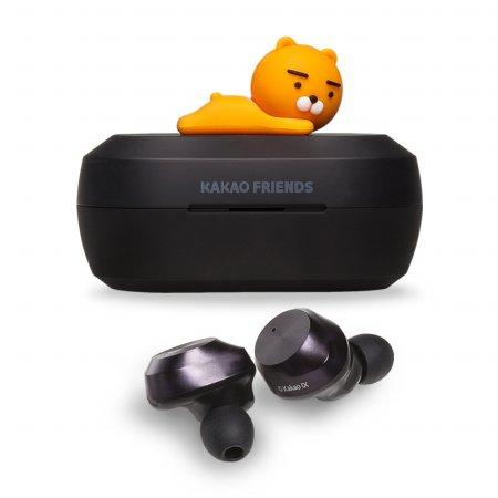 카카오프렌즈 블루투스 이어폰[커널형][라이언/블랙][카카오프렌즈TWS]