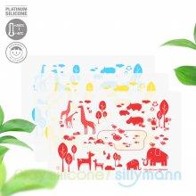 실리콘 어린이 식탁매트(동물) WSB264