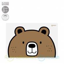 실리콘 어린이 식탁매트(곰) WSB264
