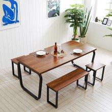 스틸뷰 1800식탁 인테리어식탁 철제식탁 테이블 6인용
