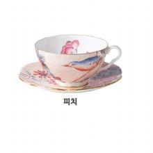쿠쿠 티 스토리 티컵&소서 1p 세트 (피치)