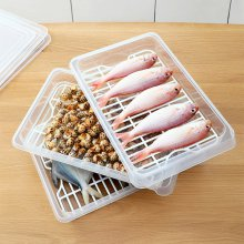 냉장고 수납정리 손잡이 커버형 채반 생선 트레이