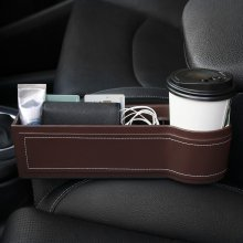 자동차 틈새 수납함 차량용 사이드포켓 컵홀더형 (brown)