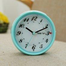 라운드 엣지 알람 탁상시계 (블루) 시계