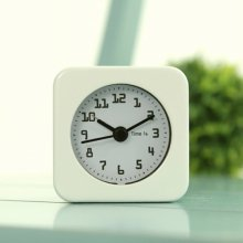 미니 스퀘어 알람 탁상시계 화이트 시계