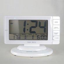 와일드스크린 디지털 알람 탁상시계 시계