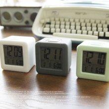 디지탈 스퀘어 엣지 알람 탁상시계 시계