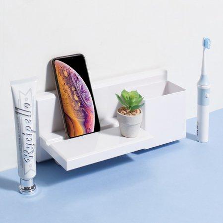 욕실 주방 무타공 공간활용 스마트폰거치 리빙 벽선반