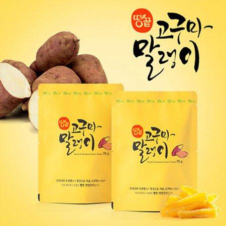 땅끝식품 고구마말랭이70gX10봉
