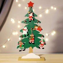크리스마스 파티 이벤트 장식소품 탁상 목각트리 46cm