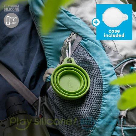 실리콘 접이식 휴대컵 WSK4131