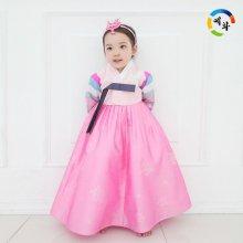 예화 명절 한복 여아 아동한복 색동