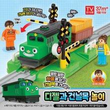 아이코닉스 띠띠뽀 디젤과 건널목 놀이 기차 장난감_s3D8D5D
