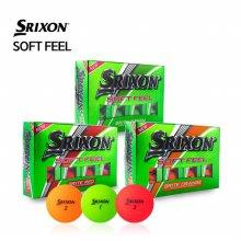 [스릭슨] SOFT FEEL 소프트필 2피스 무광 컬러 골프공 골프볼 /12알