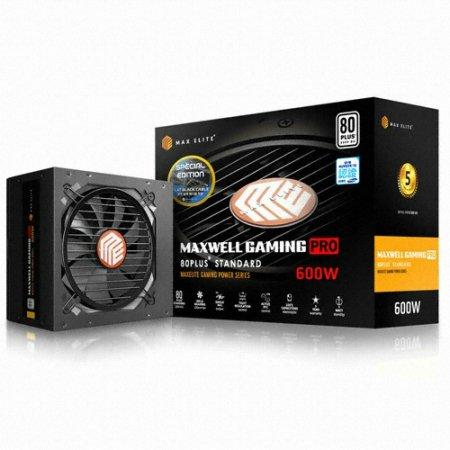 [무료배송쿠폰] 맥스엘리트 MAXWELL GAMING PRO 600W 80PLUS STANDARD 플랫