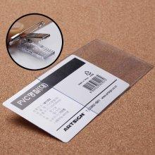 집게 옷핀 일체형 PVC 명찰 교통카드케이스 이름표_3AB859