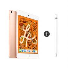 [패키지특별할인] 보호필름 증정) iPad mini 5세대 7.9 WIFI 256GB 골드 MUU62KH/A + 애플펜슬 1세대
