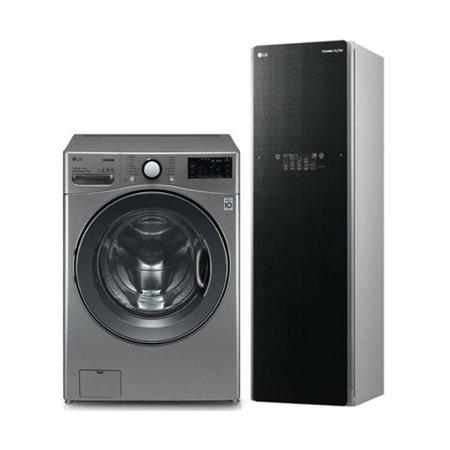 F21VDT 21KG 드럼세탁기 + S5BB 5벌 스타일러 [실버+블랙]