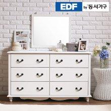미디어 3단와이드서랍장+화장대세트  DF630217