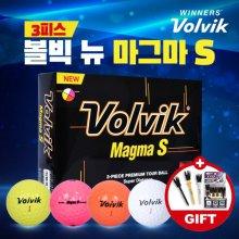 볼빅 NEW 마그마 S 골프공 12알 골프볼 칼라볼 골프용품 필드용품 Volvik New Magma S