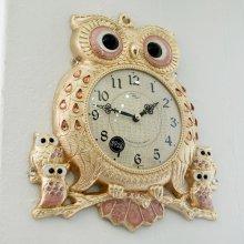 데일리데코 레인 로얄 부엉이 단면 시계