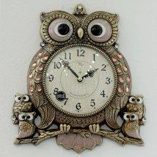 데일리데코 레인 엔틱 부엉이 단면 시계
