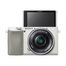 알파 A6100L 미러리스 카메라 렌즈KIT[화이트][본체+16-50mm]
