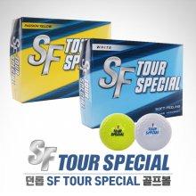 [SF A5]던롭正品 SF TOUR SPECIAL 2피스 화이트/옐로우칼라 골프볼(12알)