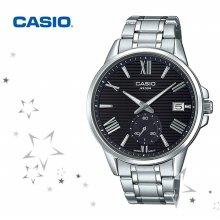 MTP-EX100D-1A 남성 패션 가죽 손목 시계