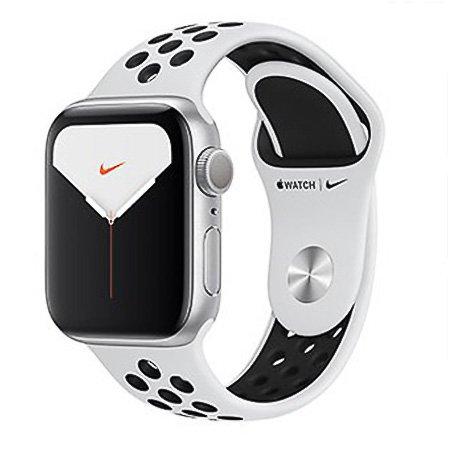 애플워치5 GPS 40mm [실버 알루미늄 케이스, 퓨어 플래티넘 / 블랙 Nike 스포츠 밴드] MX3R2KH/A