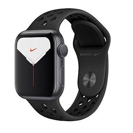 애플워치5 GPS 40mm [스페이스 그레이 알루미늄 케이스, 안트라사이트 / 블랙 Nike 스포츠 밴드] MX3T2KH/A
