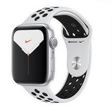 [사전예약] 애플워치5 GPS 44mm [실버 알루미늄 케이스, 퓨어 플래티넘 / 블랙 Nike 스포츠 밴드] MX3V2KH/A